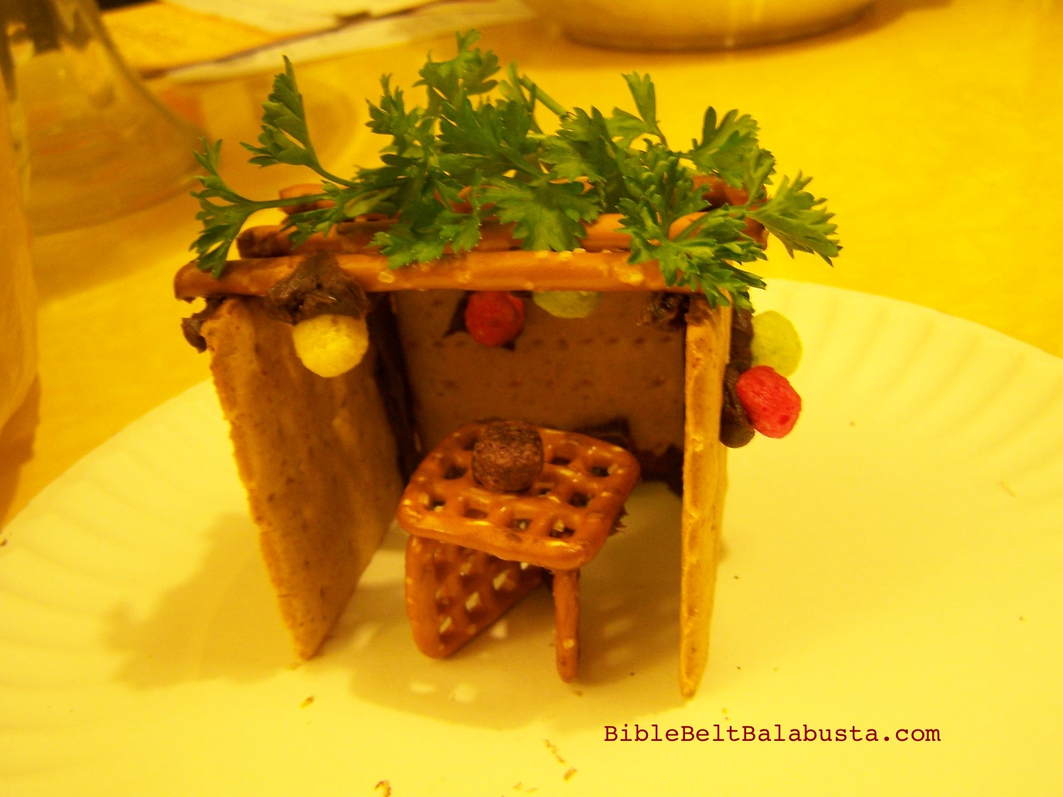 Make a kosher edible sukkah for the obsessively organized bible instant edible sukkah with cereal fruit ccuart Image collections