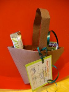 Origami basket for Purim Mishloach Manot