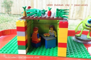 LEGO sukkah by a 7 year-old