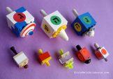 DIY LEGO dreidel samples