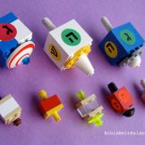 DIY LEGO dreidel samples