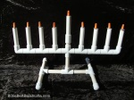 PVC Menorah, ready to disassemble and reassemble