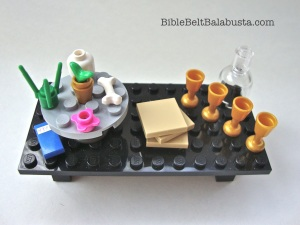 Minifig seder table