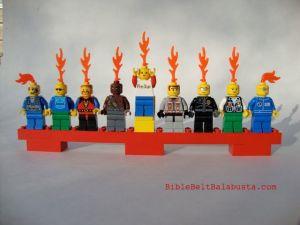 Lego minifig menorah
