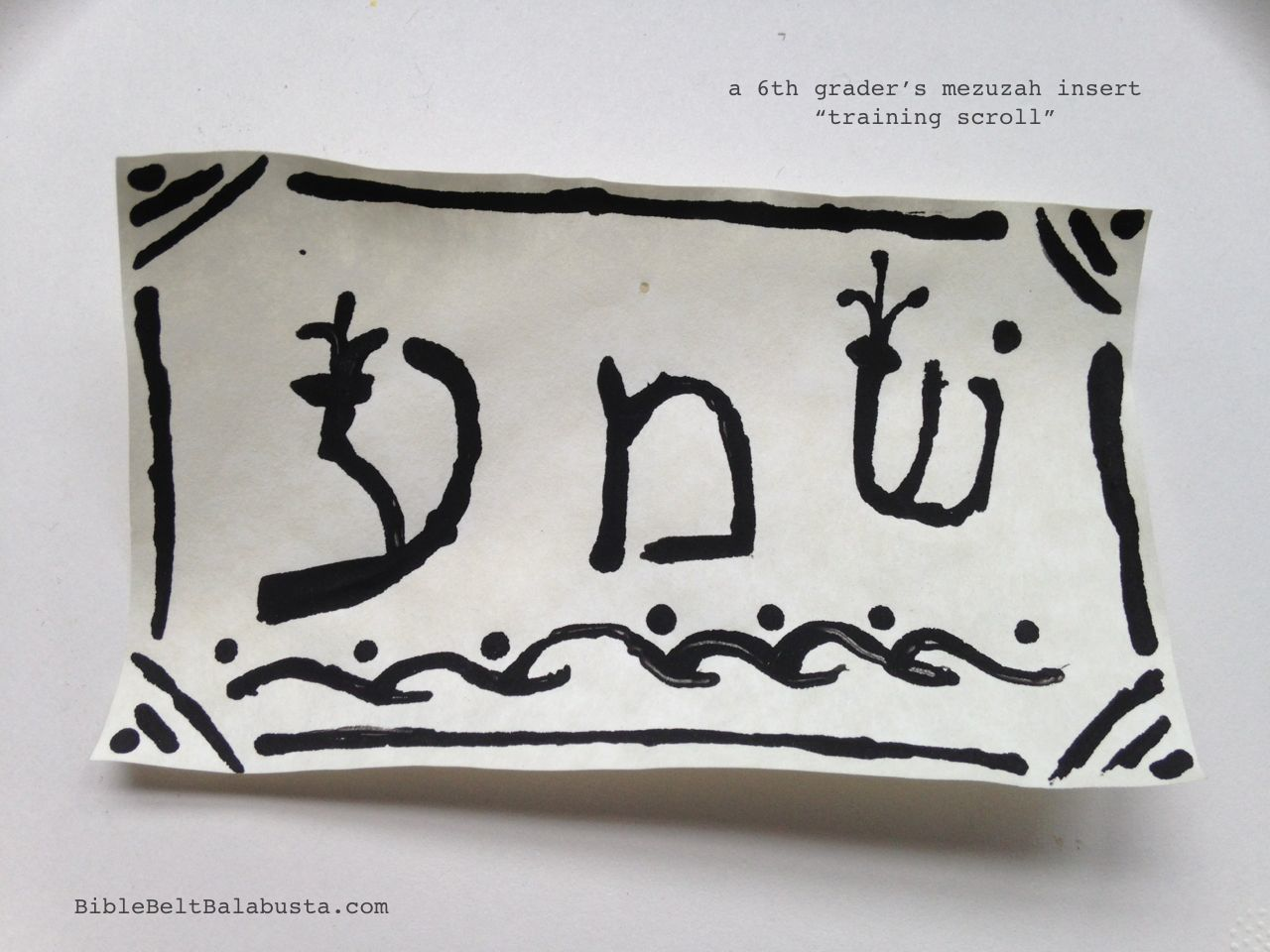 picture about Mezuzah Scroll Printable known as Create a Mezuzah Scroll Bible Belt Balabusta