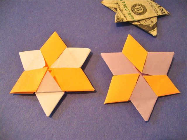 Money Origami Jewish Star Of David Folded With Real One Dollar ... | 480x640