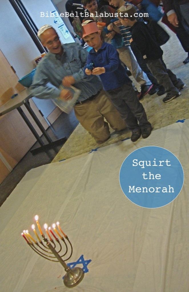 Squirt the menorah