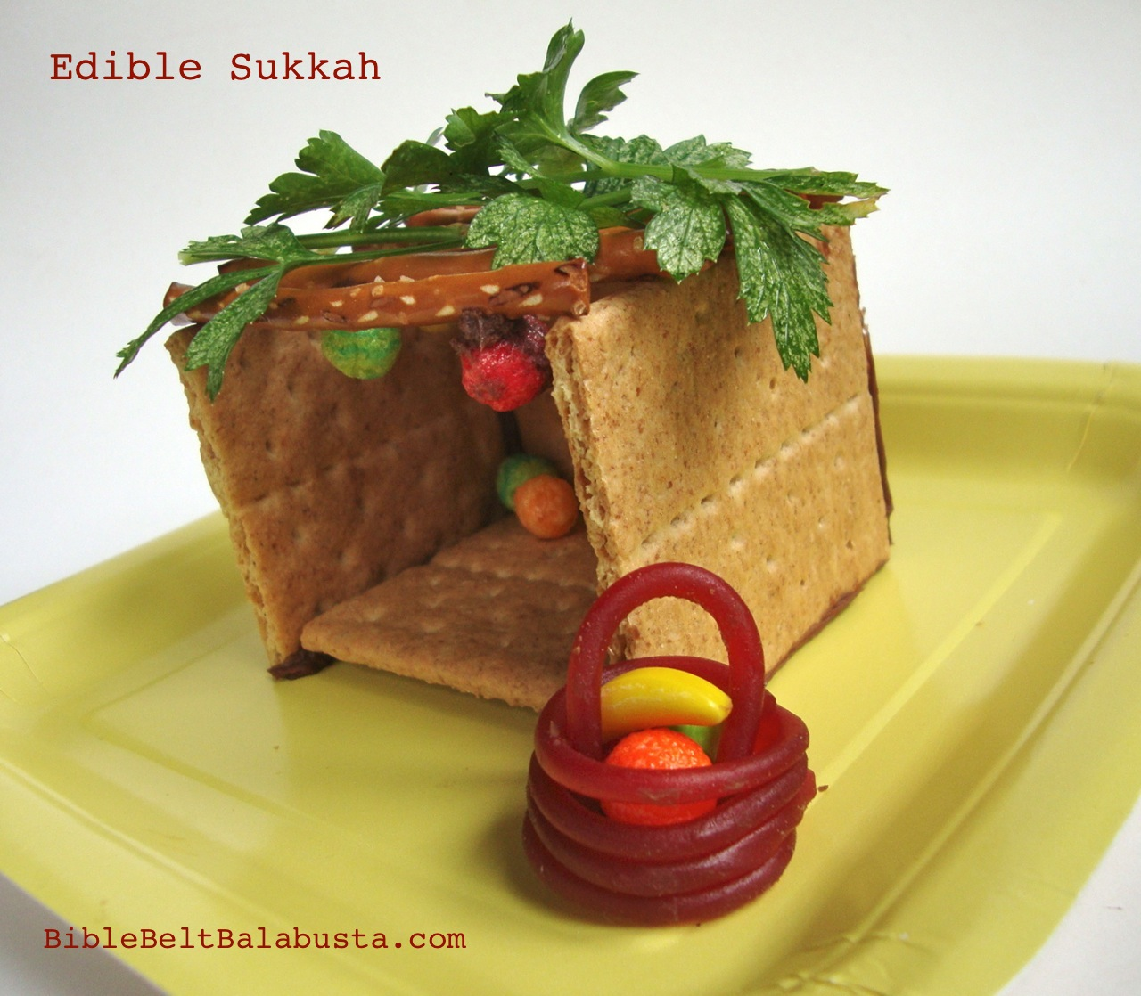Instant Edible Sukkah: step by step photos | Bible Belt ...