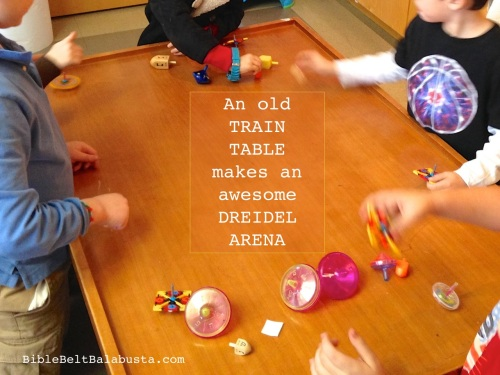 Train Table as Dreidel Stadium