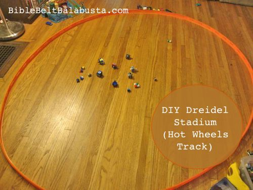 giant Hot Wheels track dreidel arena