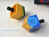 LEGO dreidel DIY, slope version