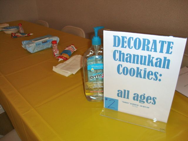 Decorate Chanukah Cookies at a Carnival