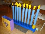 Swim Noodle Menorah at Chanukah Carnival