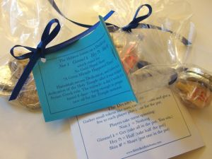 Two-sided tags: dreidel rules and a 2 sentence explanation of Hanukkah