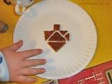 Dreidel tangram toast