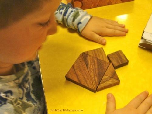 real tangram dreidel