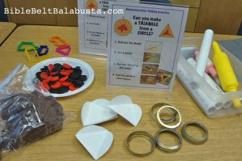 Play-Do Hamantaschen supplies