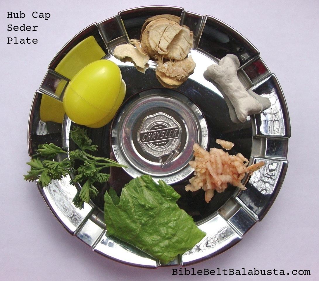 Hub Cap Seder Plate Bible Belt Balabusta