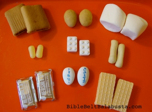 edible Ten Commandment Tablets for cupcake toppers