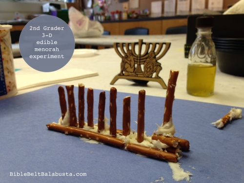 3-D edible menorah