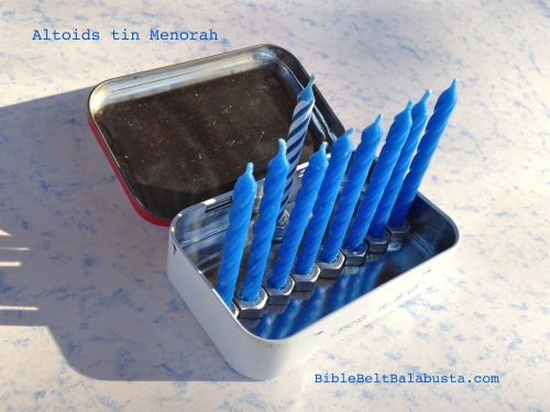 curiously tiny menorah