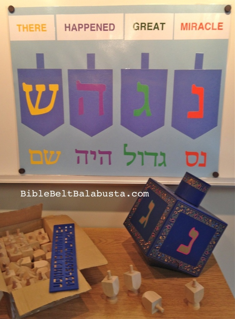 Display Dreidel Letters everywhere