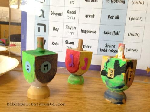 diy wooden dreidel (paint, add letters)