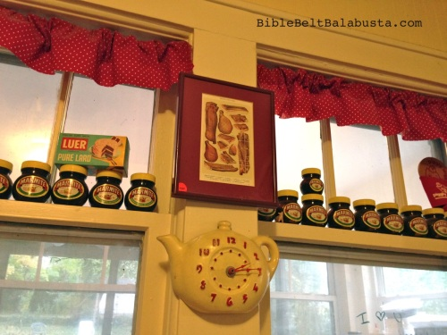 a few empty jars in the window year-round