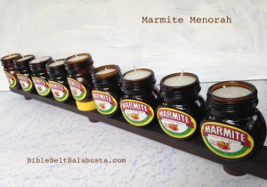 Marmite Menorah (tealights)
