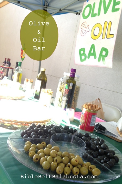 Free Olive and Oil-tasting bar