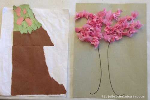 torn paper and tissue versions