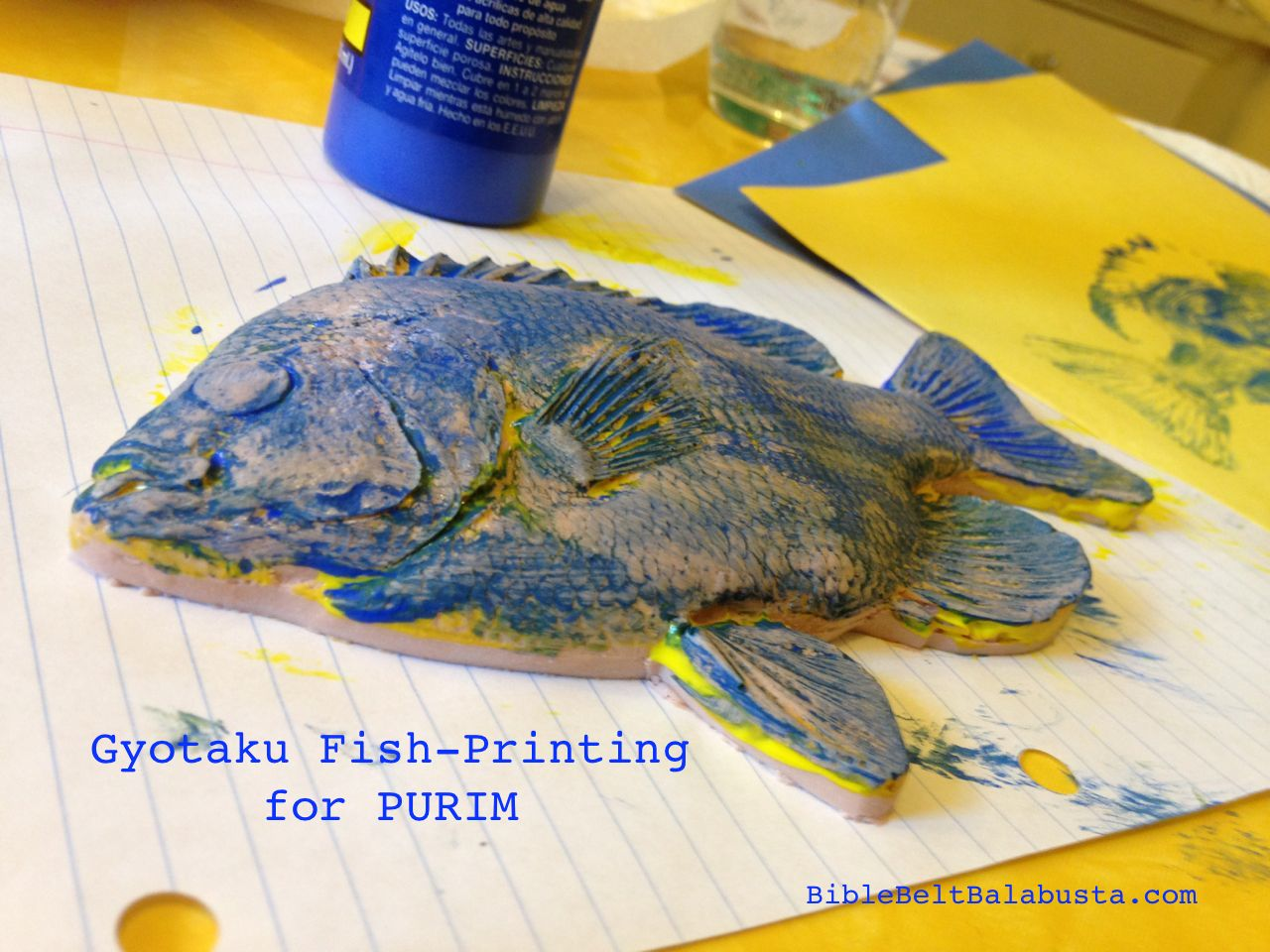 Gyotaku Fish-Printing in Adar (for Purim) | Bible Belt ...