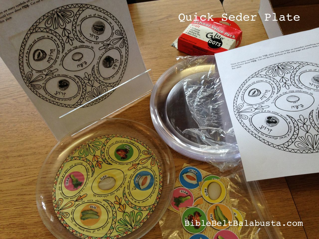 the plate design is copyrighted so I can\u0027t share it & Quick Seder Plate for kids (30 min.) | Bible Belt Balabusta