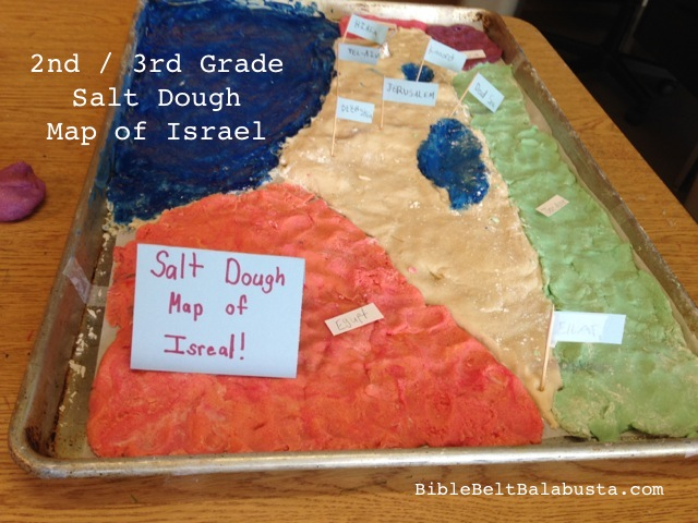 Salt Dough Map of Israel | Bible Belt Balabusta