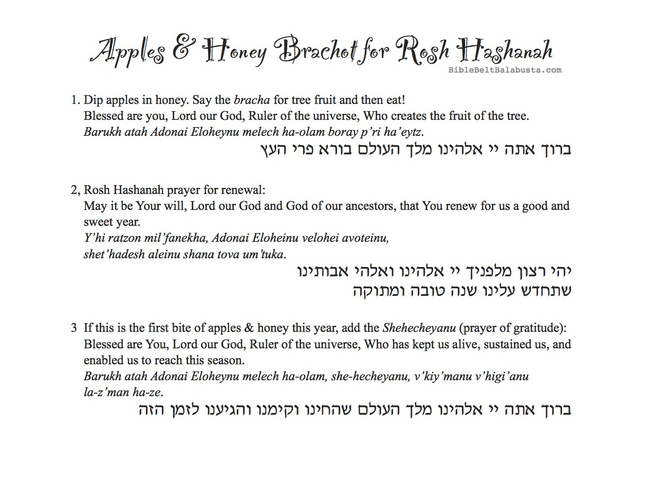 photograph relating to Hanukkah Prayer Printable called Apple-Print Blessings Placemat for Rosh Hashanah (with