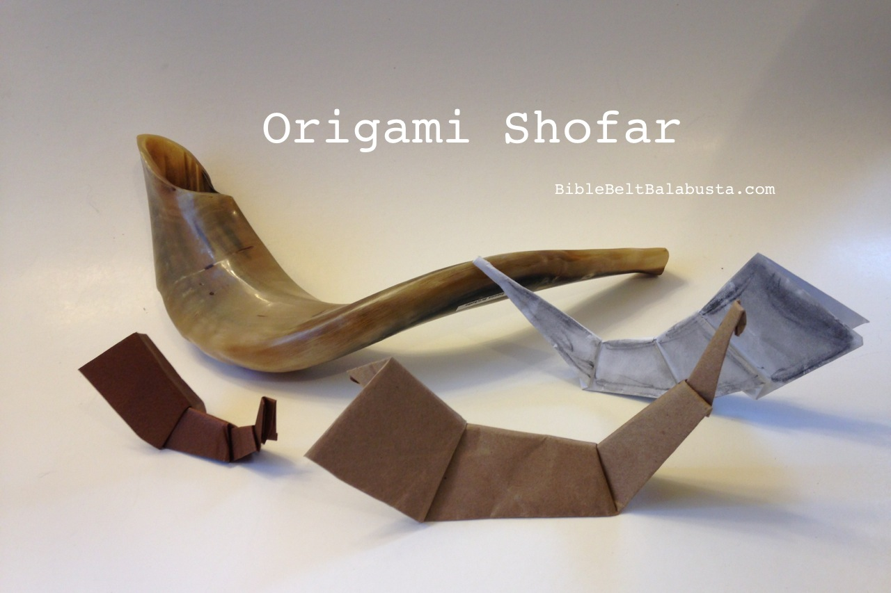 Origami shofar bible belt balabusta origami shofar for placecard toy or greeting card httpwp kristyandbryce Choice Image