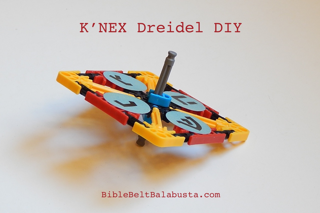 Knex spinning dreidel diy kits home or school bible belt easy to make easy to spin jeuxipadfo Images