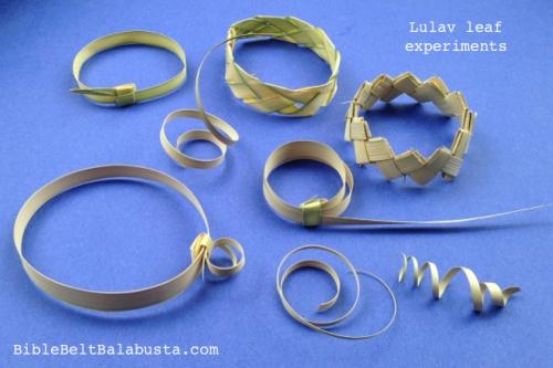 Lulav leaf tinkering