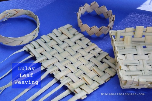 four Lulav leaf weaving experiments