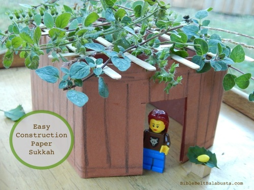 one piece of paper, folded. Add herbs for fragrant roof!