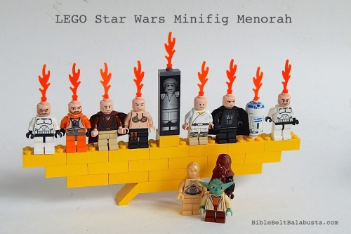 LEGO Star Wars minifig menorah