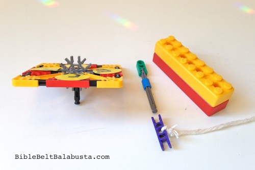 Knex dreidel launcher top view