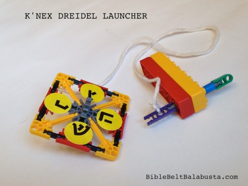K'NEX dreidel and launcher