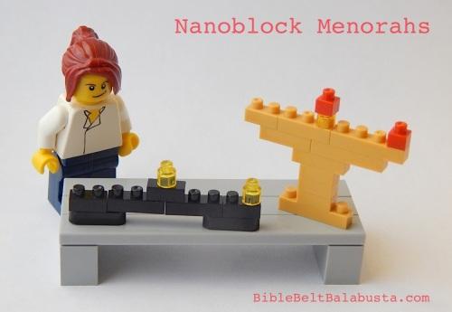 Nanoblock hanukkiyot