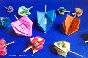 spinning origami dreidel