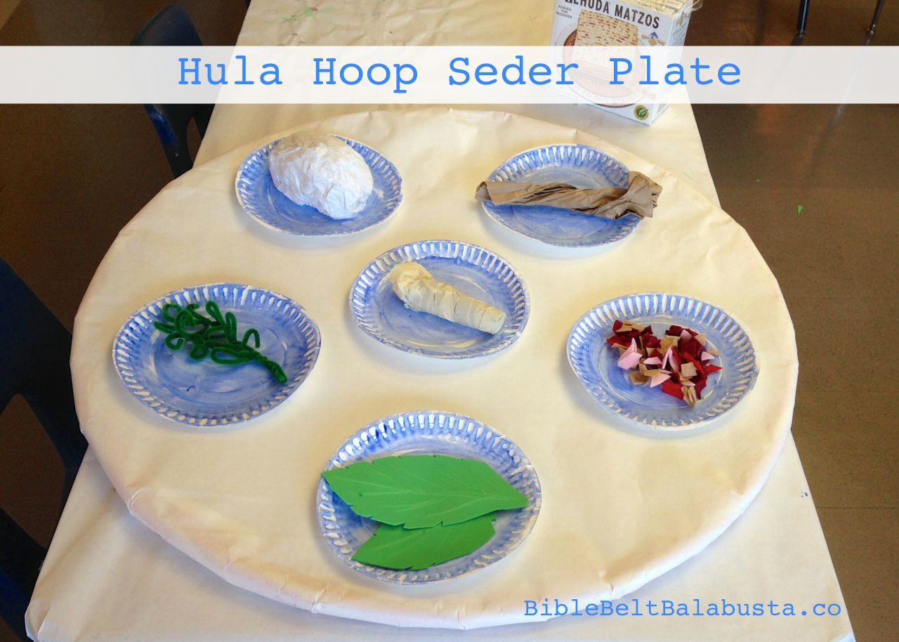 Hula Hoop Seder Plate BIG Upcycle for Kids & Hula Hoop Seder Plate: BIG Upcycle for Kids | Bible Belt Balabusta