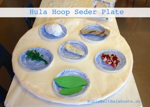 Hula Hoop Seder Plate