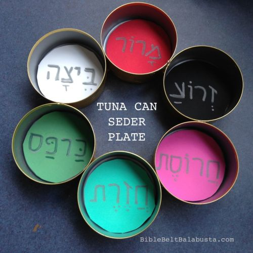 tuna can seder plate foam inserts