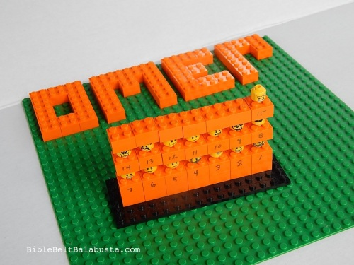 Day 15 of the omer. Each minifig head is a day / barley groat.
