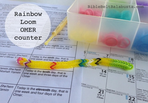 Rainbow loom omer bracelet: one rubber band per day